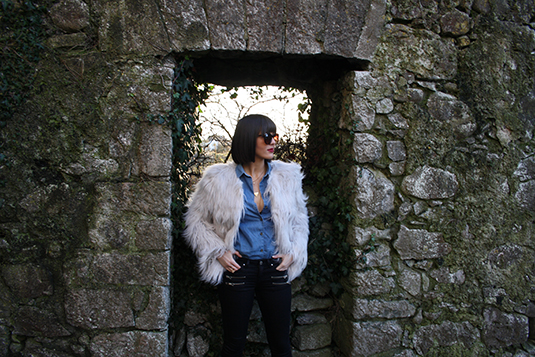 Fur coat fashion