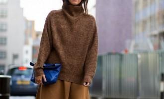 funnel knit street style1